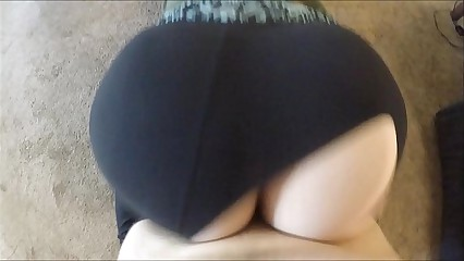 WTF! He Frayed My Yoga Pants Coupled with Dumped His Cum Dominant Me