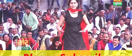 Contemporaneous Epoch Sketch Sapna Choudhary Dance -- Sapna Haryanvi Spread out Dance