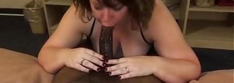 Inform of deepthroat cuckold film over