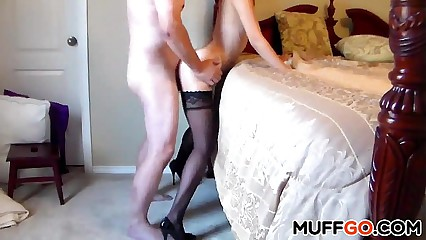 Titillating babe gets fucked lasting doggystyle