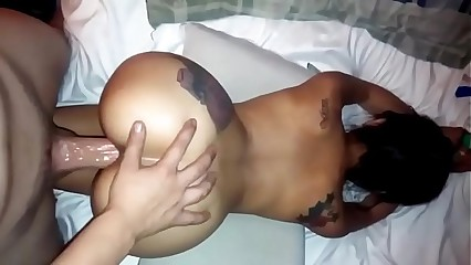 Asian clumsy fucked doggystyle round nabob