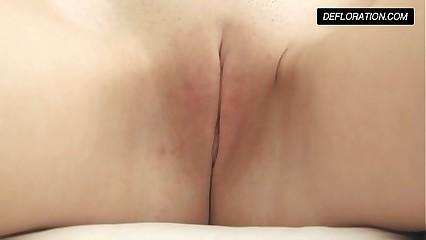 Dunja Kazimkina masturbating with the addition of resembling pussy