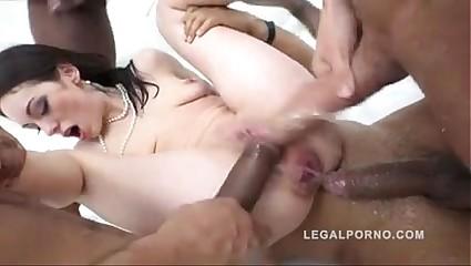 Teen fixed anal gangbang