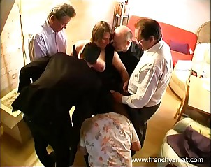 French second-rate become man gangbang