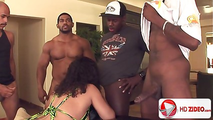Heavy pain in the neck gangbang in Chyanne Jacobs HD Porn;