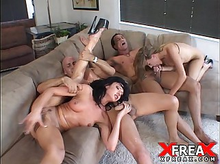 Fine Foursome in all directions Mia coupled with Eva Scallop