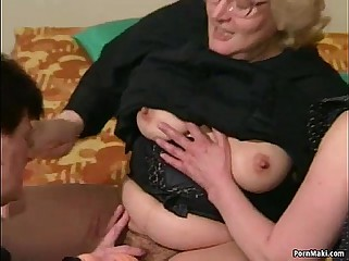 Puristic Granny gets dildoed up ahead fucks upon young challenge