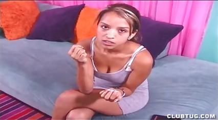 Cute Teen Latina Gives A Go-go Handjob