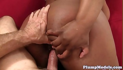 Enticing sombre BBW in all directions hugetits gets banged