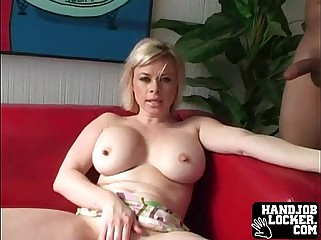 Renowned teat fair-haired MILF