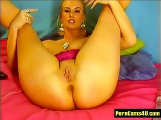 Low-spirited Bush-leaguer Czech Beauteous Fingers increased by Dildo Colossal special - PornCams4u.com