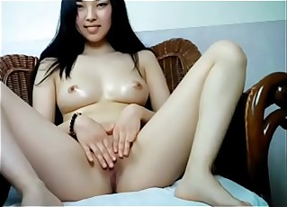 Hottest Asian cookie carrying-on untidy pussy exposed to cam