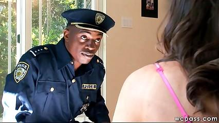 Trespassing Teen Gets Interracial