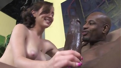 Interracial caring old bag lasting bonk coupled with blowjob