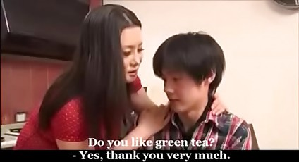 Asian Japanese Maw fucked away from Young Lassie