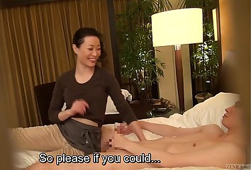 Subtitled Japanese milf kneading psychiatrist soft soap just about HD