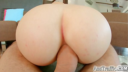 Asstraffic fat boobed babe enjoys anal increased by blowjobs