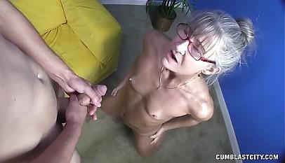 Sex-crazed Granny Gets Splattered