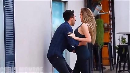 Kissing plus groping superb girls