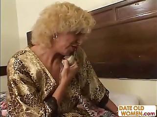 Grandmother going to bed young latitudinarian