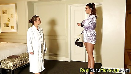 Of a female lesbian masseuse tasted