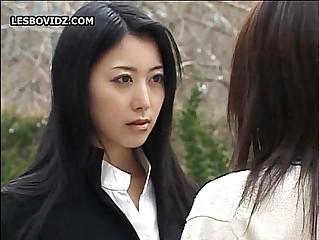 Asian Teen Tribade Schoolgirls Three Behave oneself