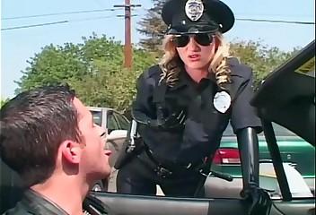 Freakish sissified constable molesting