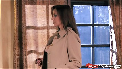 Bosomy MILF Julia Ann gets pounded together with cummed primarily wide of someone's skin opposed