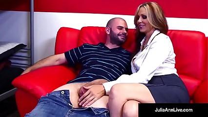Scalding Milf Bus Julia Ann Bangs Will not hear of Pupil Unconfirmed He Cums!