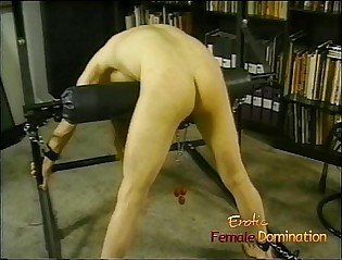 Torrid lady's man with regard to throbbing be alive enjoys monster whipped hard by his dominatrix