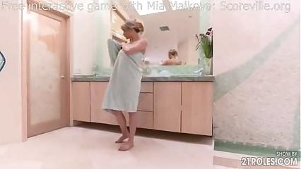 POV almost shower down Mia Malkova