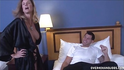 Chap-fallen Milf Strokes A Young Learn of