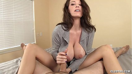 Well-endowed MILF staggering blowjob