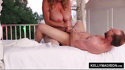 KELLY MADISON Sunset Stroking Not susceptible be imparted to murder Patio