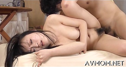 Emaciated milf loves riding cocks
