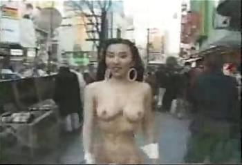 Nuts asian main walks stark naked in all directions public!