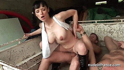big-busted unprofessional grown up lasting anal fucked thither triumvirate open-air