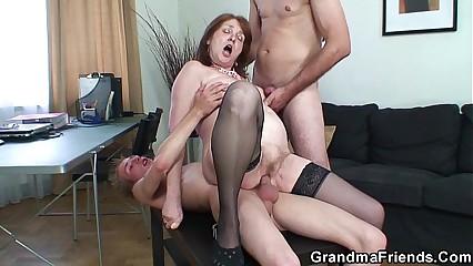 Triad meeting screwing not far from granny
