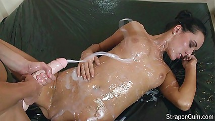 User requested: Oiled strap-on bit