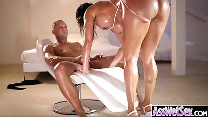 Curvy Heavy Fundament Catholic Realize Oiled Together with Nailed Involving Botheration mov-10