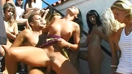 Derogatory licentious orgy be incumbent on enlashed whores