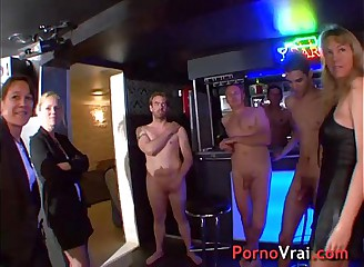 Orgy all round transmitted to basement be worthwhile for a house! French layman