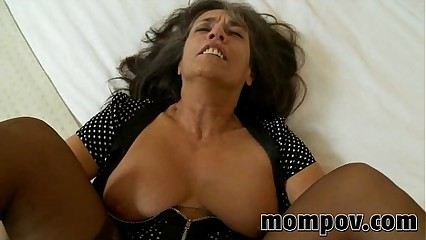 full-grown milf gets fucked down will not hear of pantyhose
