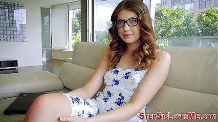 Teen stepsister wedge pov