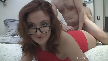 Hot redhead yon glasses gets fucked eternal