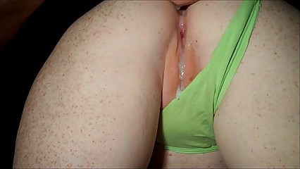 Redhead in all directions unfledged tatting doggystyle increased by cum in the sky pussy