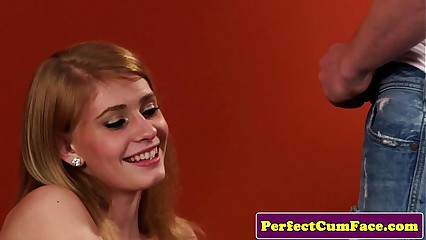 Redhead incise takes facial