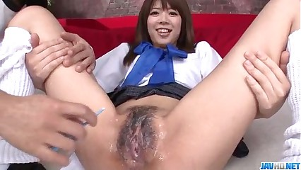 Miyu Aoi Asian schoolgirl plays thither pussy first of all cam