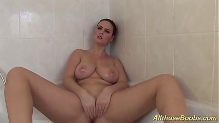 obese inexperienced jugs babes takes a hot shower