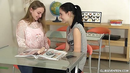 Oddball students toying their pussies